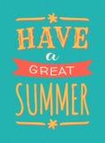 Sommer-Plakat Lizenzfreie Stockfotografie
