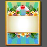 Sommer-Plakat-Boje Lizenzfreie Stockfotos
