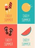 Sommer-Plakat-Sammlung Stockfotografie