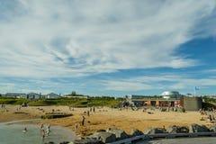 Sommer in Reykjavik Island stockfotos
