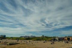 Sommer in Reykjavik Island lizenzfreie stockfotos