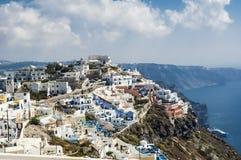 Sommer in Santorini Stockbilder