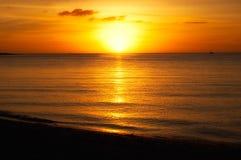 Sommer-Sonnenuntergang Stockfoto