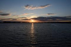 Sommer-Sonnenuntergang bei Chasewater, Staffordshire Stockfoto