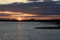 Sommer-Sonnenuntergang bei Chasewater, Staffordshire Stockfotos