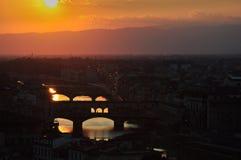 Sommer-Sonnenuntergang in Florence Italy Lizenzfreie Stockfotografie