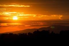 Sommer-Sonnenuntergang-Himmel Lizenzfreie Stockbilder