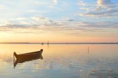 Sommer, Sonnenuntergang, Sonne, Himmel, Wasser, See, Natur stockfoto