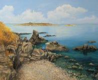 Sommer Sozopols an der Seeküste Lizenzfreie Stockfotografie