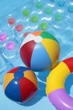 Sommer-Spielzeug-Hintergrund Lizenzfreie Stockbilder