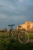 Sommer-Sportfahrrad des Fahrrades altes Stockbild