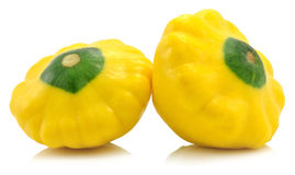 Sommer Squash. Isolated on white Stock Photography