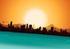 Sommer-städtische Landschaft Lizenzfreie Stockbilder