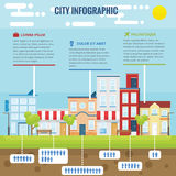 Sommer-Stadt Infographic Lizenzfreies Stockfoto