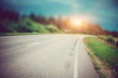 Sommer-Straßen-Hintergrund stockbild