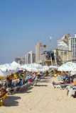 Sommer am Strand in Tel Aviv Israel Stockbild