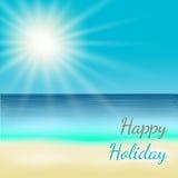 Sommer-Strand-Vektor-Hintergrund lizenzfreie abbildung