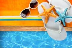 Sommer-Strand-Zubehör Lizenzfreie Stockfotos