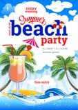 Sommer-Strandfest Gru?vektor lokalisiert auf schwarzem Hintergrund vektor abbildung