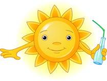 Sommer Sun mit Flasche Stockfoto