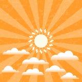 Sommer Sunny Sky Lizenzfreie Stockfotos