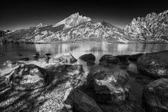 Sommer-Tag auf Jenny Lake stockbild