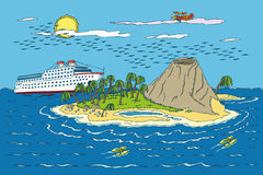 Sommer-tropisches Paradies Lizenzfreie Stockbilder