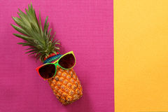 Sommer- und Feiertagskonzept Hippie-Ananas-Mode-Accessoires Stockbilder