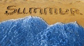 Sommer und Welle Lizenzfreies Stockfoto