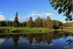 Sommer Ural-Landschaft stockfotografie