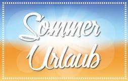 Sommer Urlaub - fondo della spiaggia - illustrazione dell'oceano illustrazione vettoriale