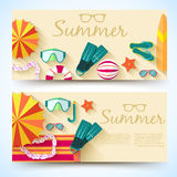 Sommer vecetion Zeit-Hintergrundvektor Stockbilder