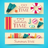 Sommer vecetion Zeit-Hintergrundvektor Stockbild