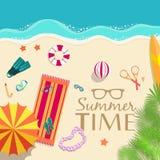 Sommer vecetion Zeit-Hintergrundvektor Stockfotos