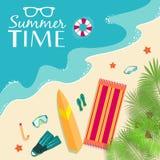 Sommer vecetion Zeit-Hintergrundvektor Lizenzfreies Stockfoto
