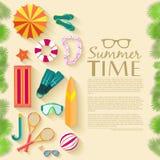 Sommer vecetion Zeit-Hintergrundvektor Lizenzfreie Stockbilder