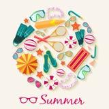Sommer vecetion Zeit-Hintergrundvektor Stockfoto
