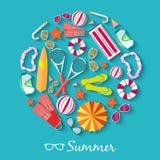 Sommer vecetion Zeit-Hintergrundvektor Lizenzfreies Stockbild