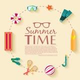 Sommer vecetion Zeit-Hintergrundvektor Stockfotografie