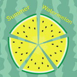 Sommer-Wassermelone Stockfotografie