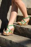 Sommer women's Schuhe Lizenzfreies Stockbild