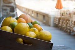 Sommer-Zitrusfrucht in Vernazza stockbild