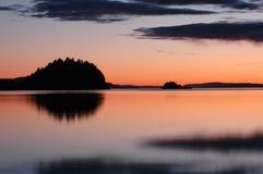 Sommerabend durch das Meer Stockfotografie