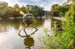 Sommerabend in Lazar Globa Park Lizenzfreies Stockbild