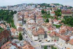 Sommeransicht von Fribourg. Stockbilder