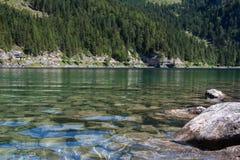 Sommeransicht von See Gosausee, Österreich Stockfoto
