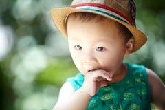 Sommerbaby stockbild