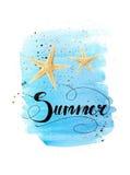 Sommerbeschriftung lizenzfreie stockfotos