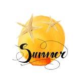 Sommerbeschriftung stockfotos