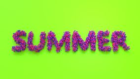 Sommerbeschriftung in den Vitaminfarben Stockfotos